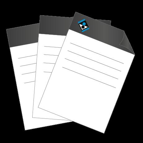 Briefpapier HKS   DIN A4 beidseitig   1/1-farbig